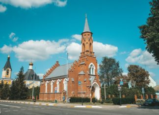 Костел в городе Речица