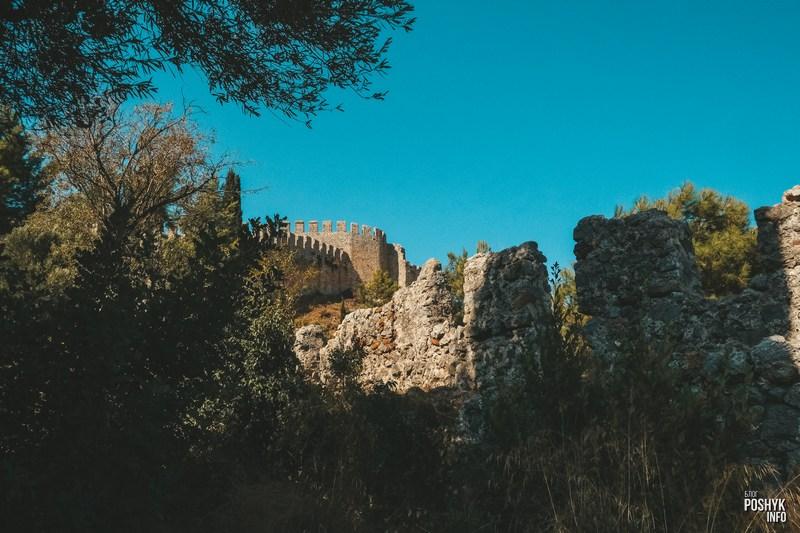 Аланья Турция крепость на горе