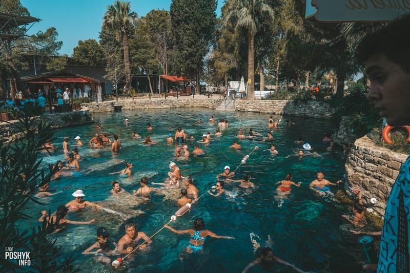Лечебный Бассейн в Паммукале Турция