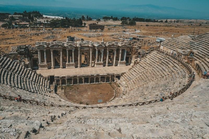Руины амфитеатра Памуккале