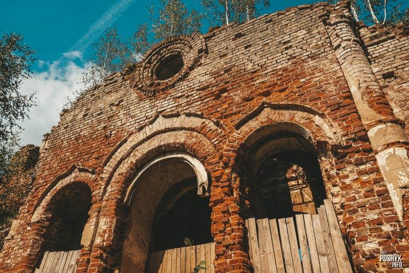 Руины церкви в агрогородке Межево