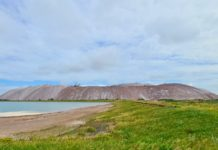 Марсианские пейзажи Солигорска - терриконы, сильвинит