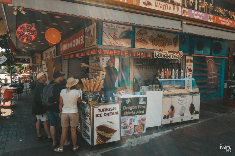 Турецкое мороженое в Аланьи
