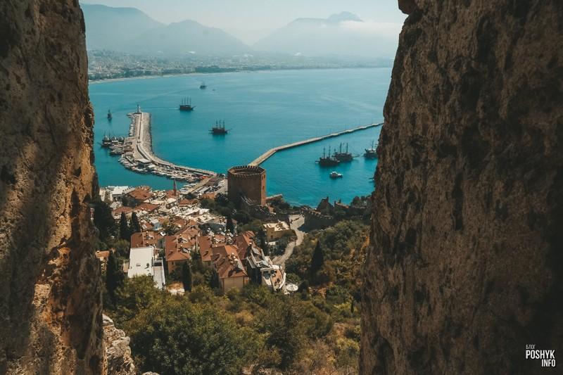 Вид с крепости Алании